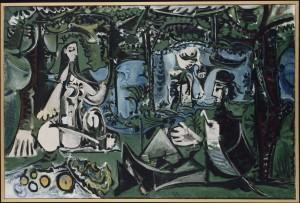 Pablo Picasso : Le déjeuner sur l'herbe, 1960. Musée Picasso Paris